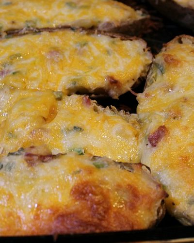 Grilled Loaded Twice Baked Potatoes