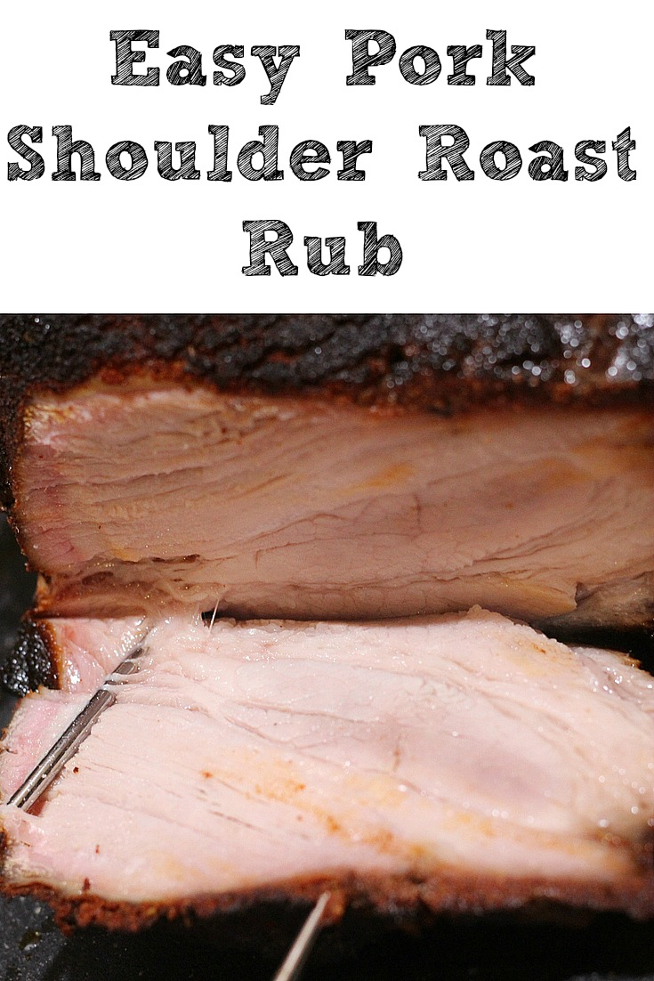 This Easy Pork Shoulder Roast Recipe is perfect to make for a weekend dinner!! Plus the homemade rub is made out of ingredients in your spice cabinet, and the injection makes the roast nice and juicy. This roast is so full of flavor and makes the perfect leftovers too!