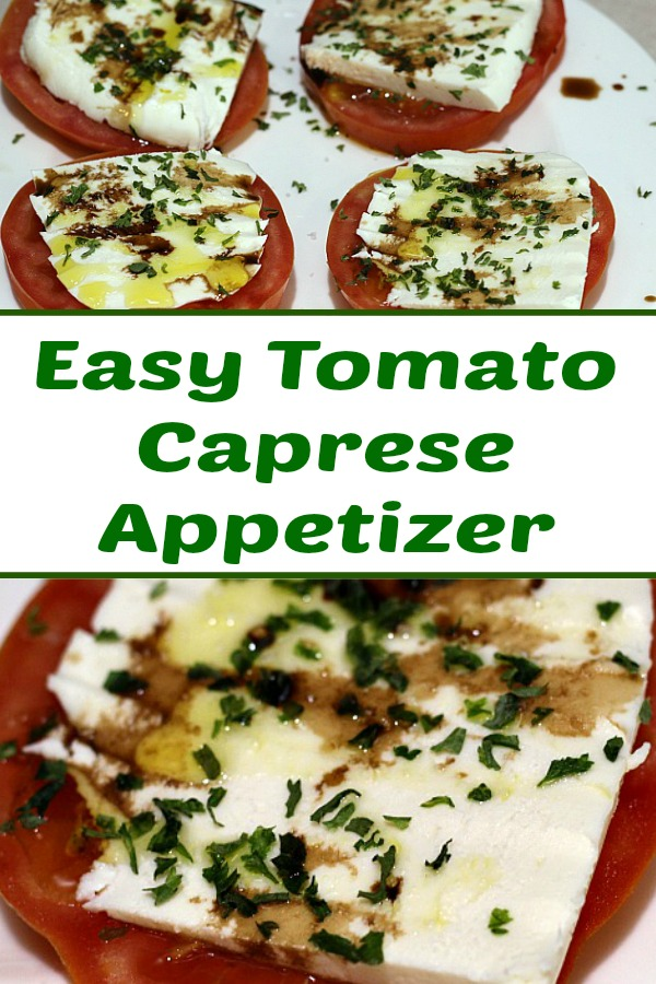 This Easy Tomato Caprese Appetizer Recipe is perfect to make up for dinner get togethers! The flavor combination makes for a tasty fresh appetizer to enjoy!