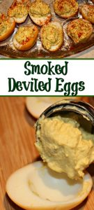 These Easy Smoked Deviled Eggs are the perfect way to change up a holiday dinner classic! Just an extra step makes these taste amazing and perfect!