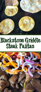 These Blackstone Griddle Steak Fajitas Recipe are one of the easiest ways to make fajitas at home! The flavor from the fajita marinade adds amazing flavor!