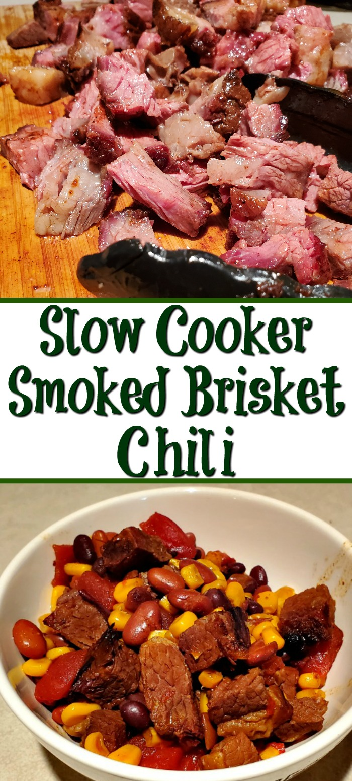 This Smoked Brisket Chili Recipe In The Slow Cooker makes the perfect use of leftover Smoked Beef Brisket into a hearty comfort food.