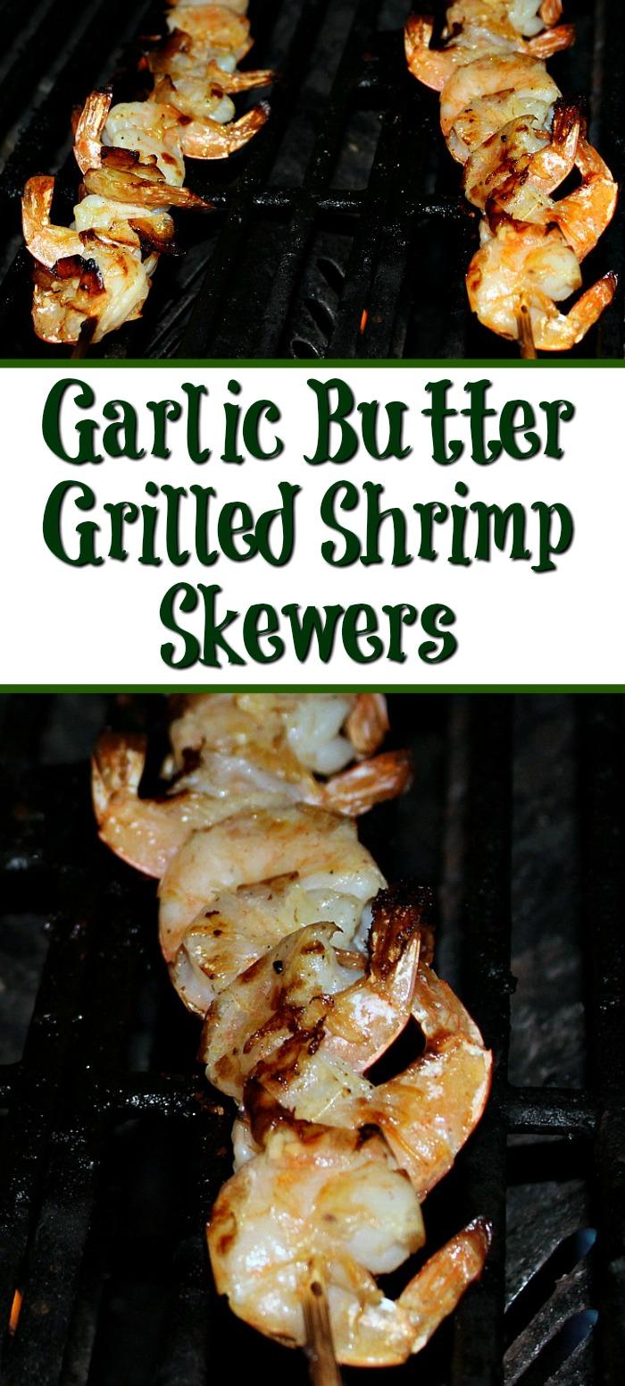 Garlic Butter Grilled Shrimp Skewers Recipe