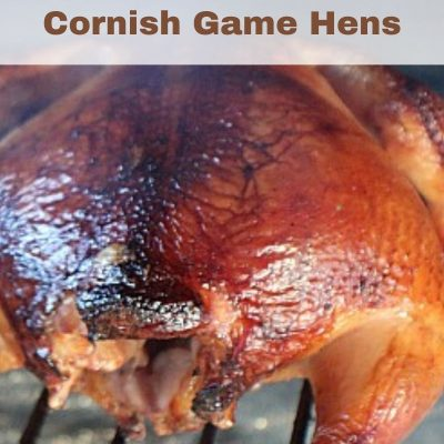 Part of the secret of Cold Smoked Cornish Game Hens is in the brine, that helps to flavor the hens. Finish grilling them on the grill for an amazing flavor!
