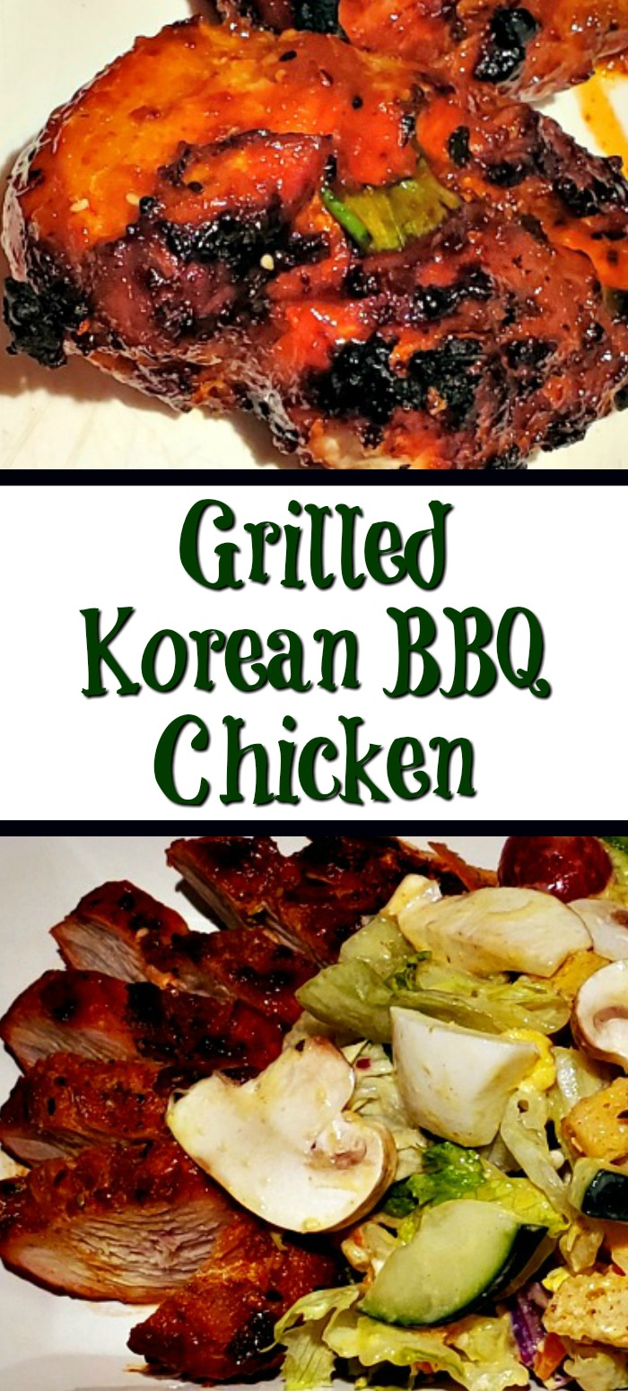 This Grilled Korean BBQ Chicken Recipe is perfect to put together using Spicology seasonings! Makes a great weeknight dinner to grill on the bbq