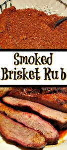 This Smoked Brisket Rub Recipe With Brown Sugar is the perfect way to season a brisket for smoking! Plus this recipe will work with any type of smoker!