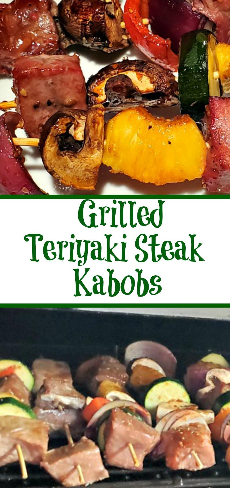 Easy Grilled Teriyaki Steak Kabobs Recipe
