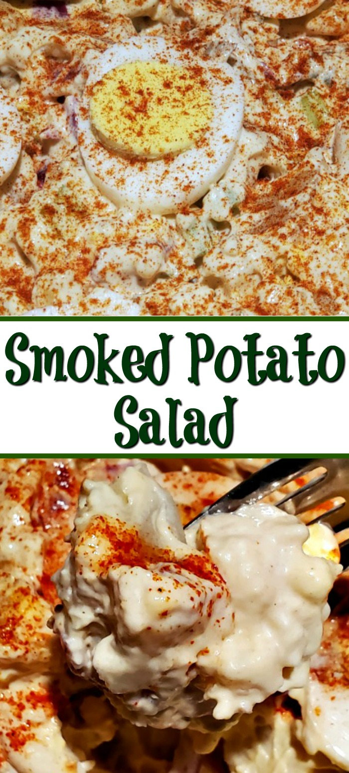 This Smoked Potato Salad Recipe makes the perfect side dish for any potluck or bbq cookout! Use Smoked Baked Potatoes to take potato salad up a notch!