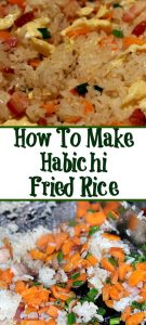 How To Make Hibachi Fried Rice on a Blackstone Griddle. This is easy to do with any meat and choice veggies and taste just as good as a Japanese Steakhouse.