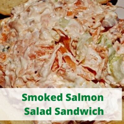 This Smoked Salmon Salad Recipe is the perfect way to use up leftover smoked Salmon! Pair it up with good bread to make the perfect sandwich! Add different seasonings or mix in different vegetables to make it different every time!