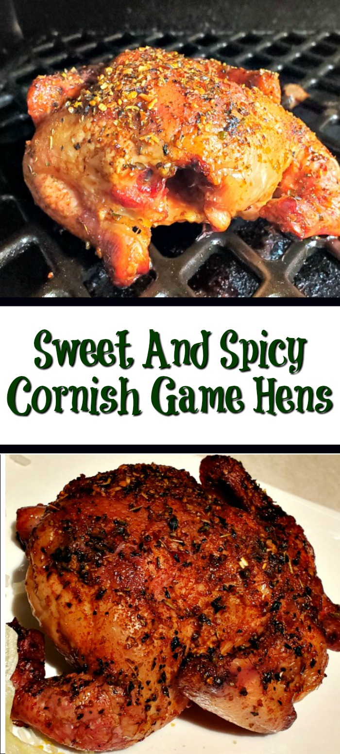 Sweet And Spicy Cornish Game Hens are the perfect way to enjoy Cornish game hens with a bit of a kick to them. Use a pellet grill to add smoke flavor!