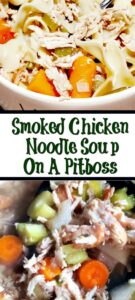 This Smoked Chicken Noodle Soup Recipe is the perfect way to make comfort food on your smoker! Use smoked chicken breast to bring even more flavor!