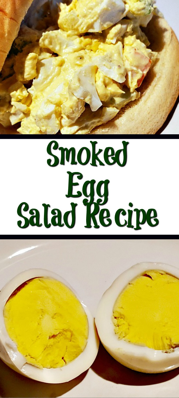 This Smoked Egg Salad Recipe is the perfect way to use up leftover smoked eggs! Pair this up with good bread to make the perfect sandwich!  Add different seasonings or mix in different vegetables to make it different everytime!