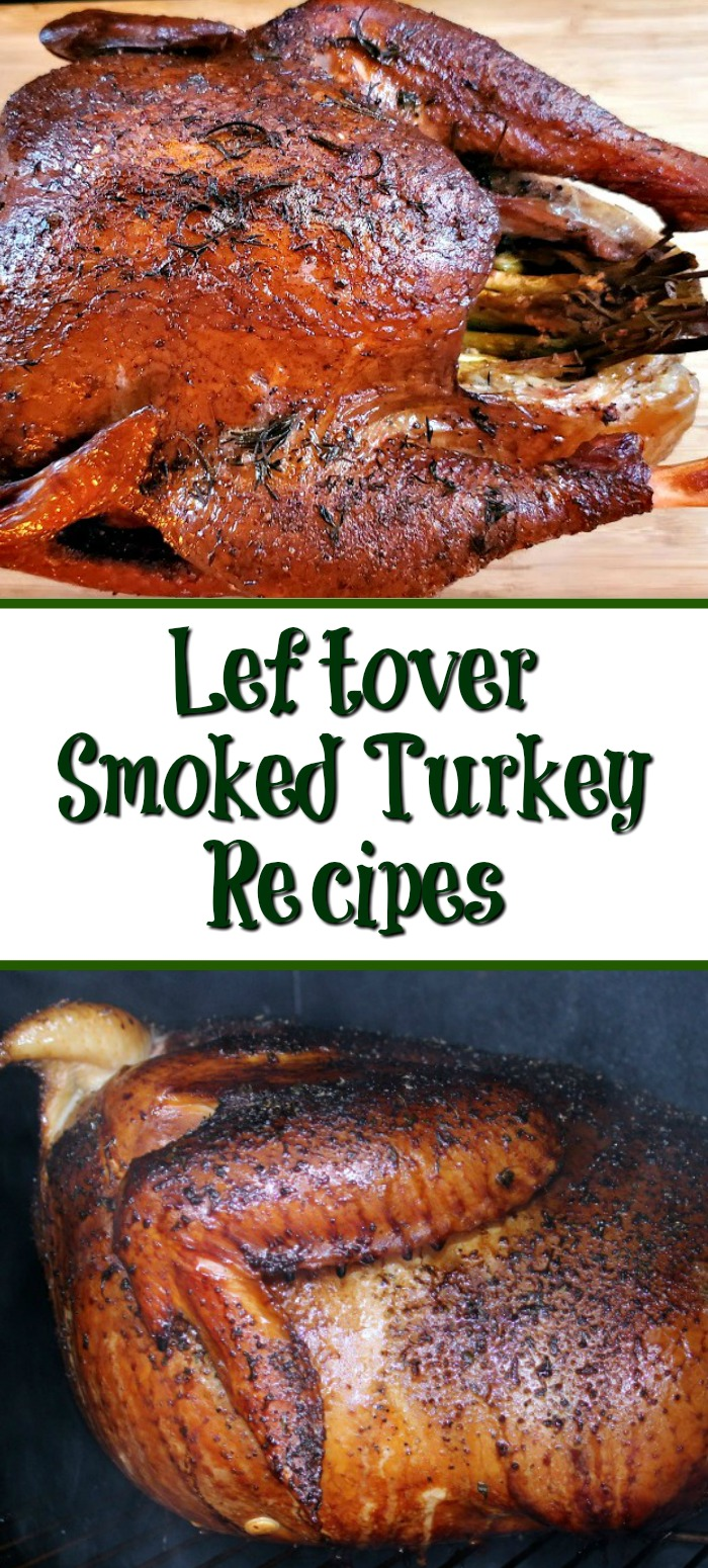 Leftover Smoked Turkey Recipes are one of the best parts about holiday dinners! Using smoked turkey in other dinners adds flavor to the meals! Pot pie, soups, chili, and casseroles are perfect for using up leftover smoked turkey in other meals.