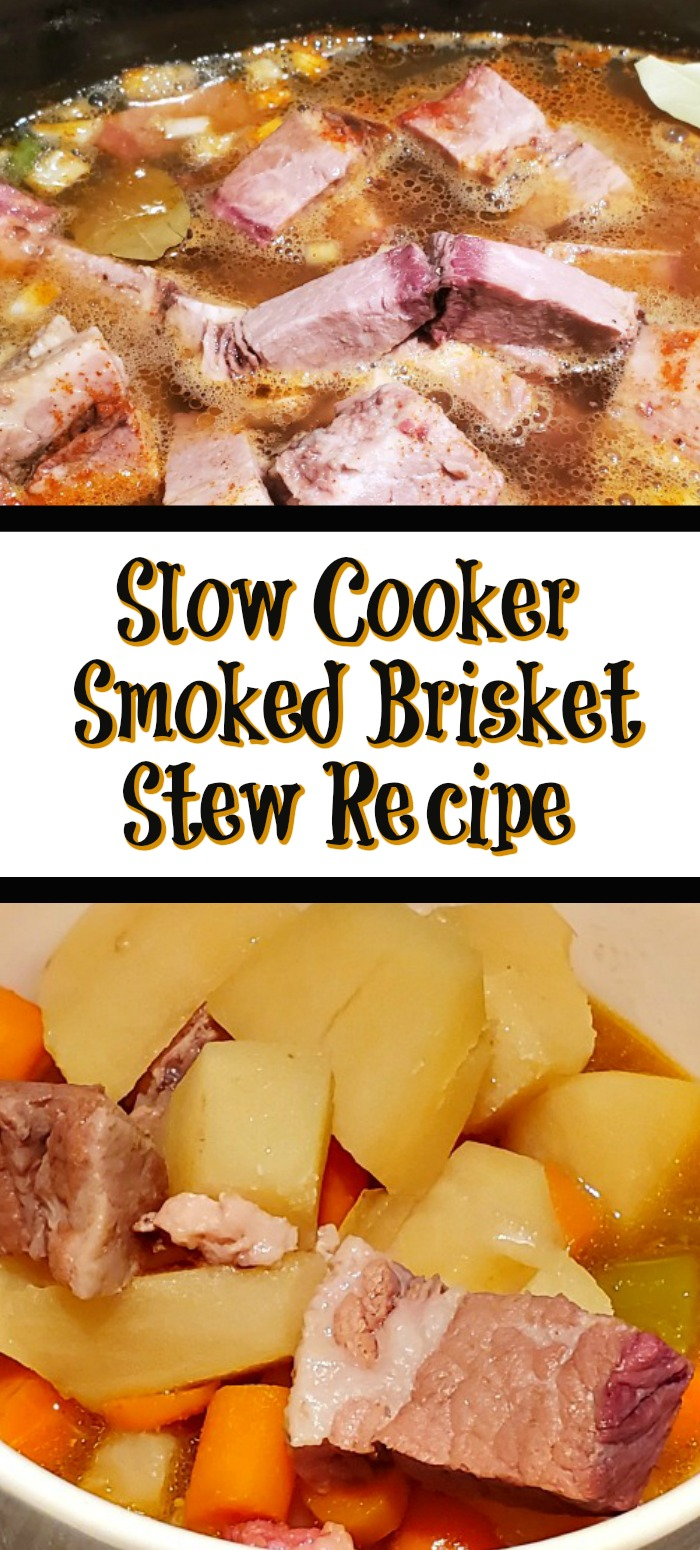 This Slow Cooker Smoked Brisket Stew Recipe is the perfect way to use up leftover smoked brisket! Allow slow cooking all day for the perfect flavor!