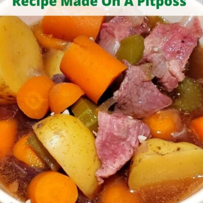 Smoked Hearty Beef Stew Recipe Is the perfect smoker dinner to cook low and slow! Add your vegetables, meat, and broth and allow it to smoke all day!!  You can use smoked meat to add in as well and change it up with different vegetables!
