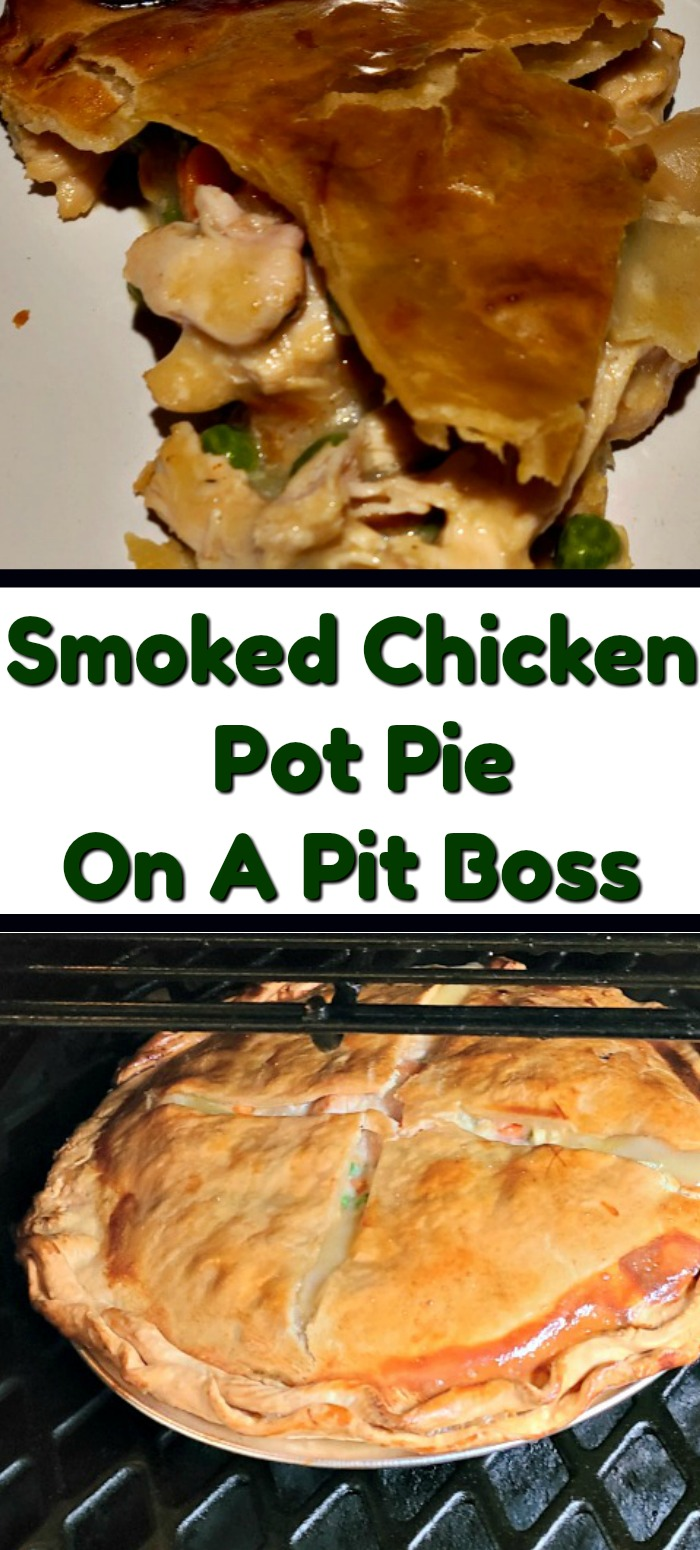 Smoked Chicken Pot Pie Recipe is the perfect comfort food to make on a pellet grill!! Smoke flavor is amazing on the crust and the chicken in the pot pie