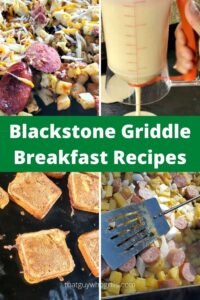 Blackstone Griddle Breakfast Recipes are always tasty when made on the griddle top. Pancake, scrambles, bacon, french toast, and hashbrown are just a start! Clean up is a breeze and the food just tastes better when cooked outside.