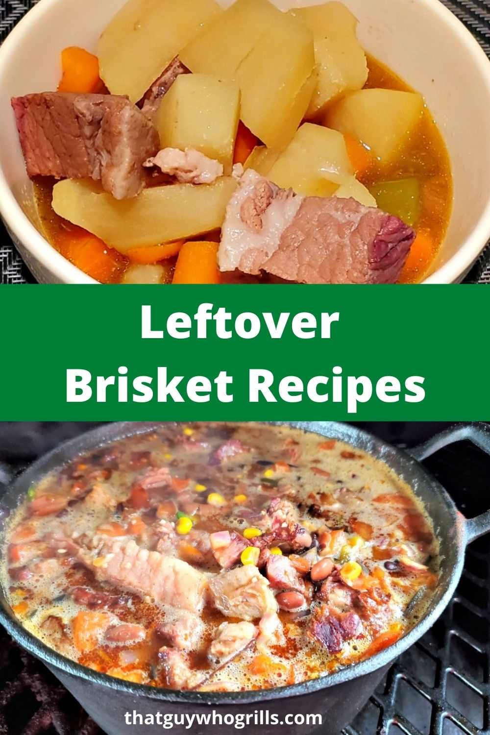 These Leftover Brisket Recipes are perfect to use up leftover Beef Smoked Beef Brisket. Use the brisket in chili, pies, stew, and even breakfast to make tasty meals! You can use the smoker to add even more or a crockpot.