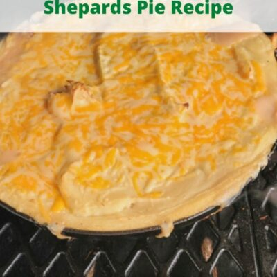 This Smoked Brisket Shepards Pie Recipe is the perfect smoked St Patrick Day dinner! Use leftover smoked brisket to this comfort dish on your smoker! Comfort food is best made in a cast-iron skillet on a smoker, and tastes amazing!