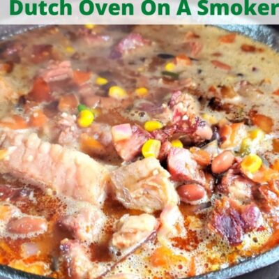 How To Make Chili In A Dutch Oven On A Smoker! Chili is the perfect way to use up smoked meat but smoking the chili adds even more flavor! Use chicken, turkey, brisket, pork, or beef to make these tasty chilis! Use a cast iron dutch oven on the smoker like a Pitboss or a Trager to add more flavor!