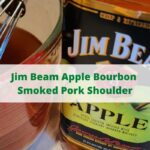 This Jim Beam Apple Bourbon Smoked Pork Shoulder is perfect to smoke a roast to make into shredded pork! Injection and rub make tender meat! Use a metal injector for easy injection to the pork shoulder. Smoke low and slow, this is perfect to make on Pit Boss Smoker or any pellet smoker!