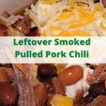 This Leftover Smoked Pulled Pork Chili Recipe smoked in a Cast Iron Dutch Oven on a Pit Boss Pellet Grill is amazing leftover pulled pork comfort food! You can add more spice to kick up the flavor, and add in more protein like pork sausage to add more flavor! Smoke low and slow to add more smoke flavor to the chili