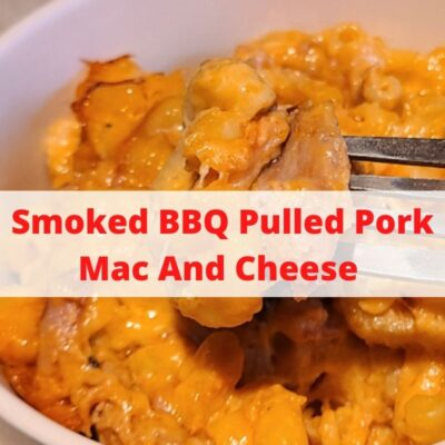 This Smoked BBQ Pulled Pork Mac And Cheese is the perfect way to use leftover pulled pork to make a new dish! Serve this as a side or as a meal! You can add peppers, hot sauces, or any type of cheese to make this dish.