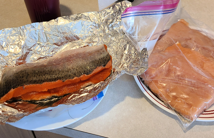 This Brown Sugar Rub For Smoked Salmon is the perfect rub to make for smoked salmon! Use cedar planks to add to the flavor and moist fillet as well! This is easy to make on your pellet grill or electric smoker! You can use freshly caught salmon or salmon fillets.